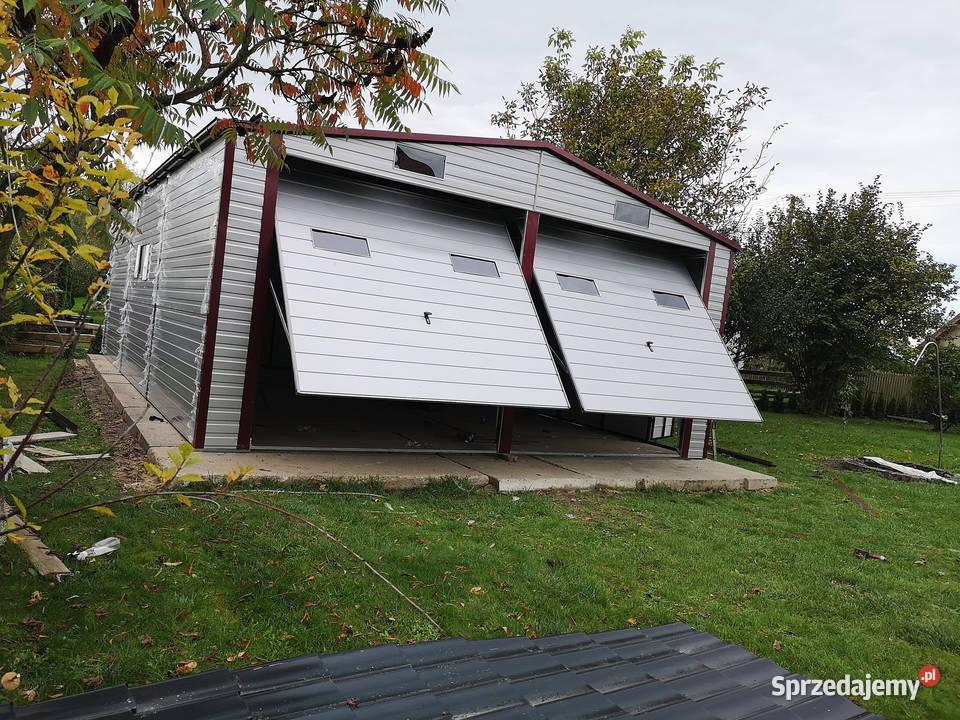 Hala blaszana powiększona dwustanowiskowa Garaż 7x10 m