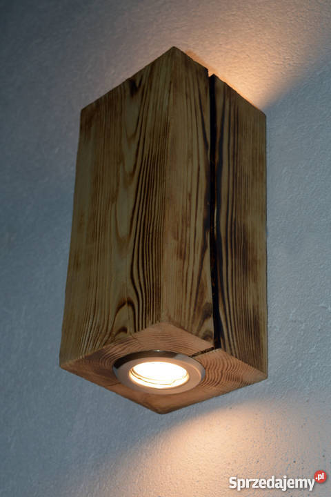 Kinkiet belka drewniana LED VINTAGE LOFT sprzedam