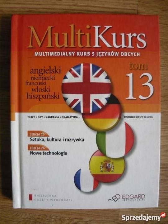 MULTIKURS 5 języków 10 książek z płytami Kultura i Rozrywka Warszawa