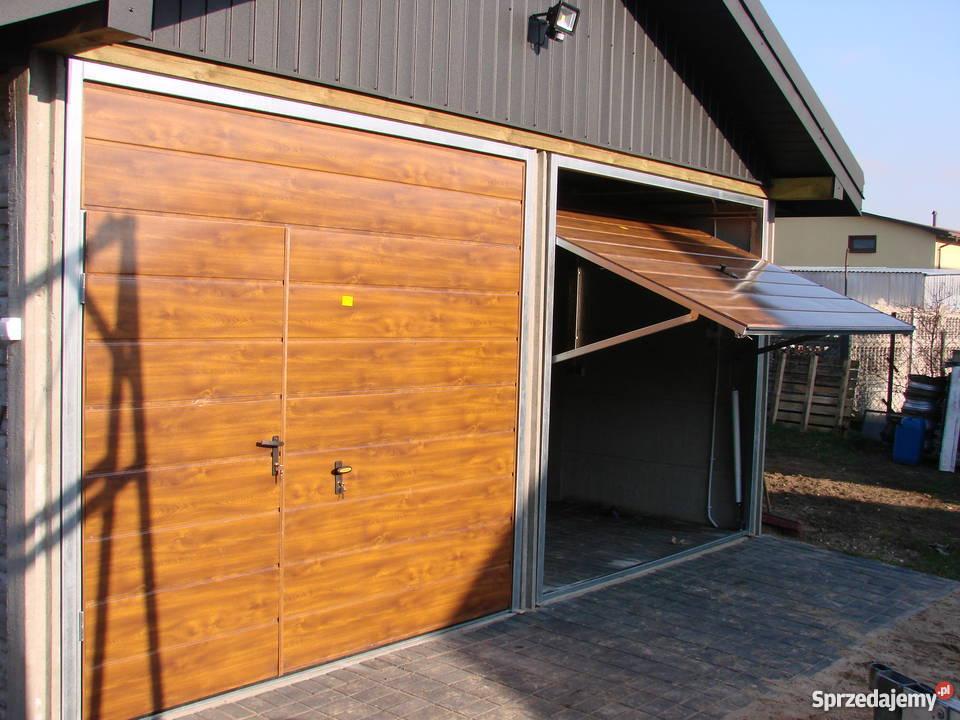 Brama Garazowa Uchylna ORZECH WINCHESTER ZŁOTY Szydłów