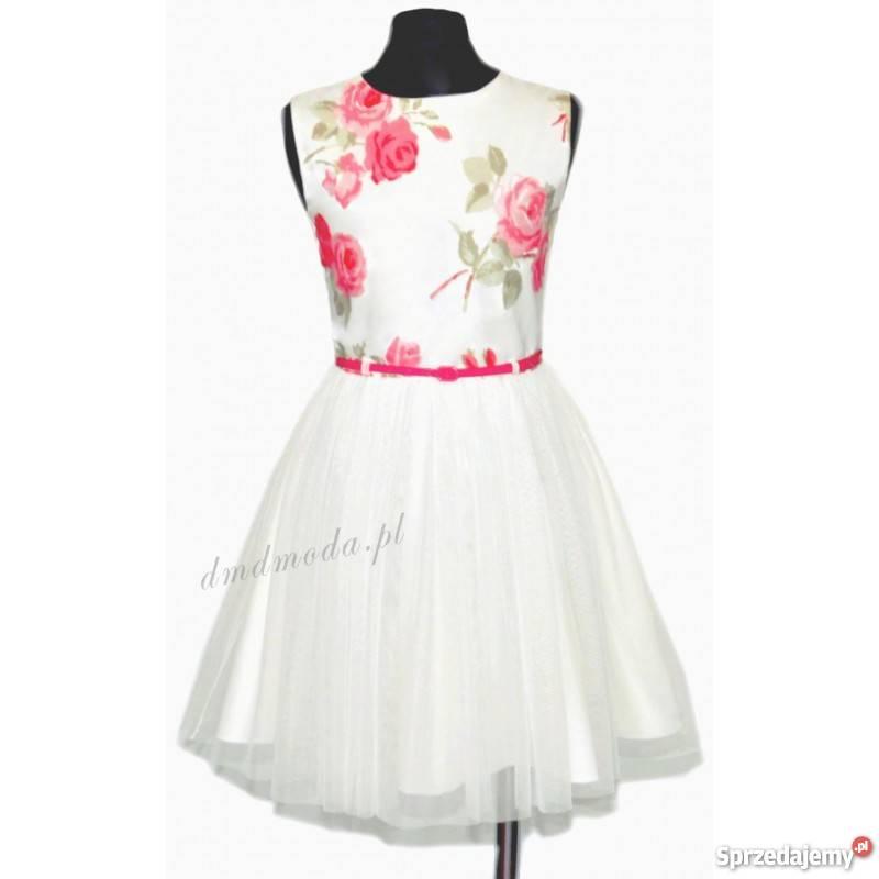 4eb763ab19 Anita - wizytowa sukienka dla dziewczynki z tiulem Kielce ...