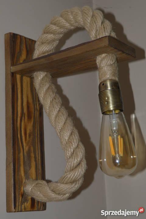 Drewniany kinkiet VINTAGE Edison LOFT Retro inny kolor sprzedam