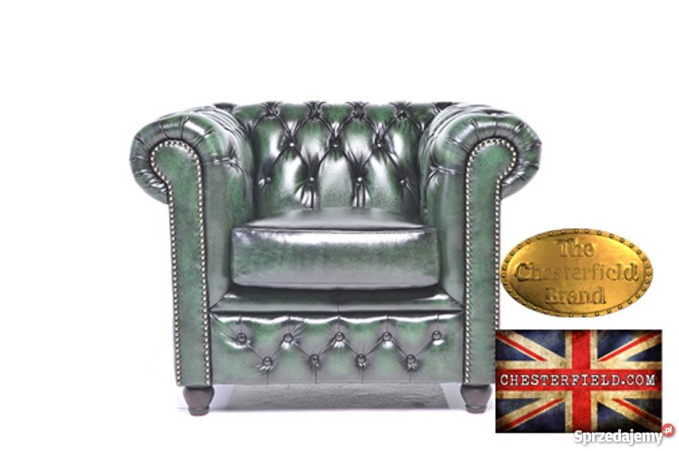 Chesterfield sofa 1 -osobowa Brighton zielen