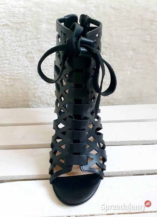 GUESS Adyn piękne ażurowe sandały na szpilce Nowe 36 37