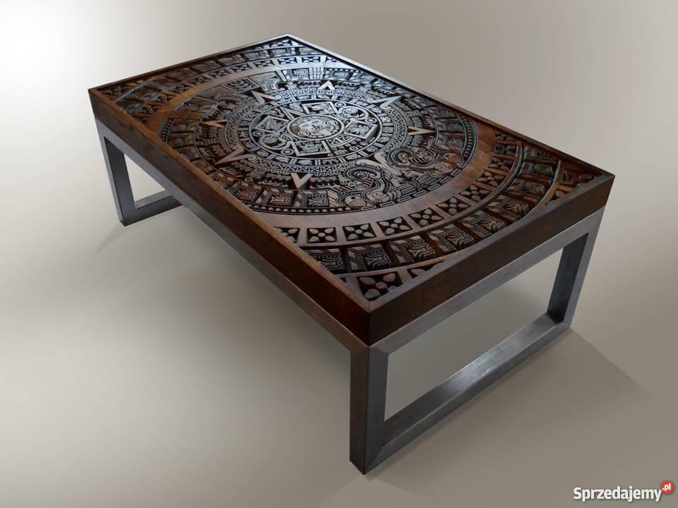 Wyjątkowy Stolik ława Stolik Kawowy Loft Rzeźbiony Stół