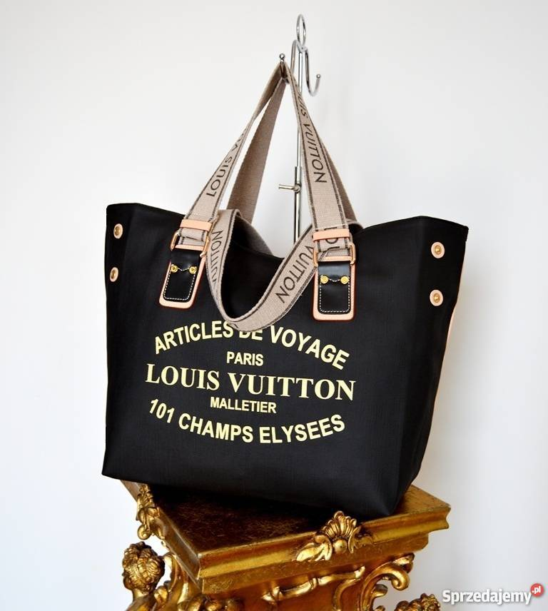 473f577c6c608 TOREBKA LOUIS VUITTON WOREK VOYAGE SHOPPER BAG CZARNA LV A4 ...