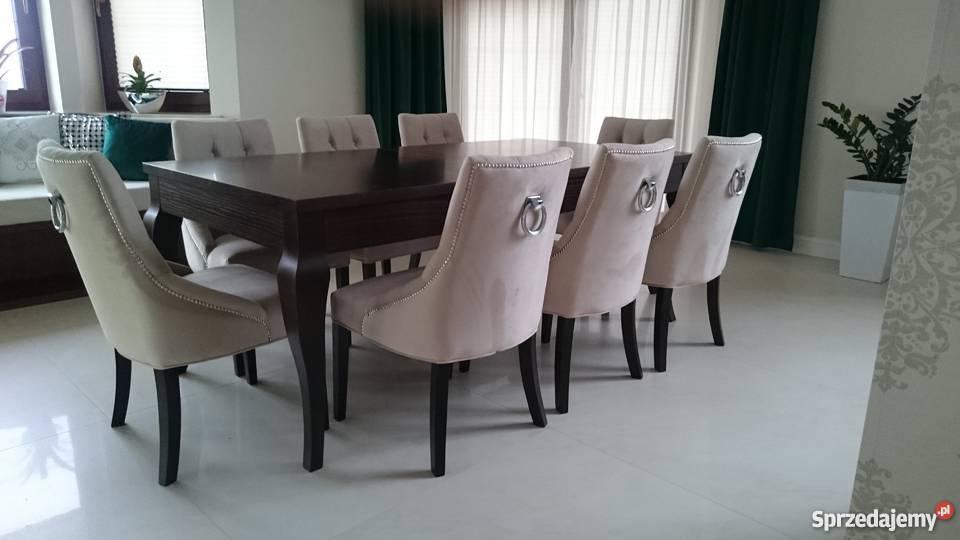 Krzesło nowoczesne tapicerowane pikowane z Starogard Gdański