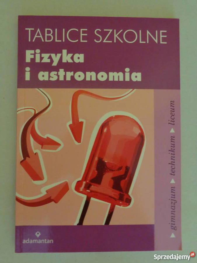Fizyka i astronomia. Tablice szkolne.