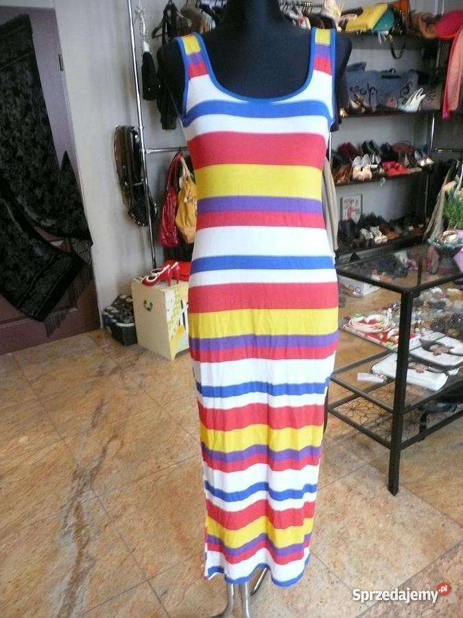 78003f6087 Długa kolorowa sukienka z bawełny M Rozmiar 38(M) dolnośląskie Wrocław