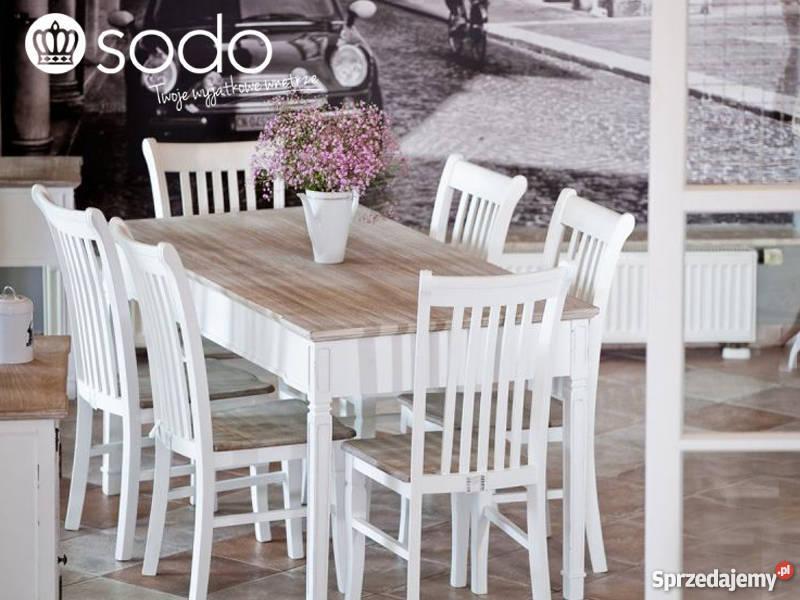 Wszystkie nowe Stół drewniany biały PALIDA 160x80x78cm - Aluro Poznań JK33