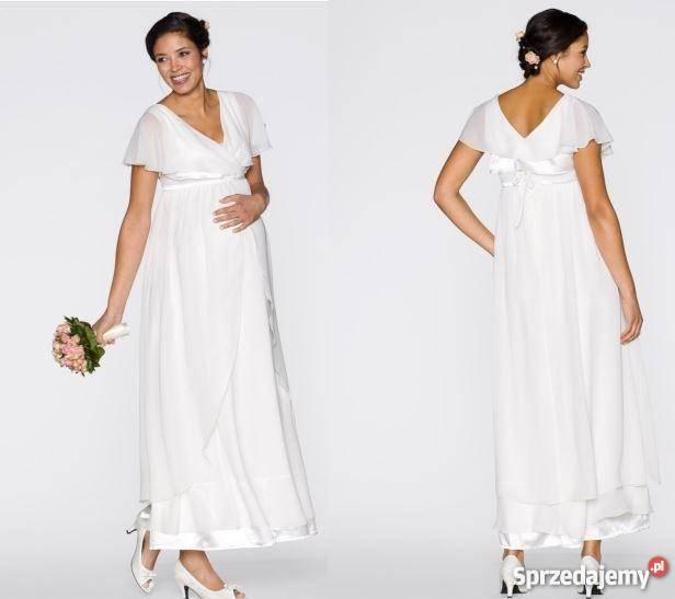 ee56d2a5 Sukienka ślubna ciażowa rozmiar 40 kujawsko-pomorskie Golub-Dobrzyń