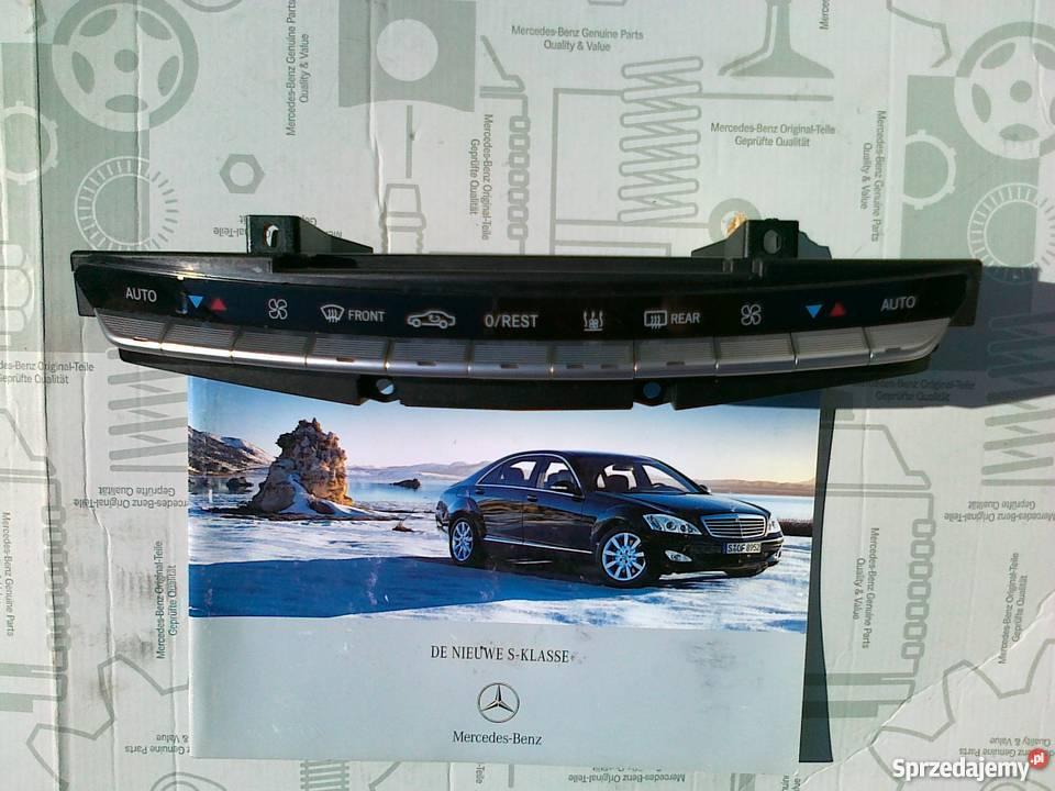 Mercedes W 221 Sklasa Panel Sterowania klimatyza klimatyzacja Ogrzewanie, wentylacja i klimatyzacja sprzedam
