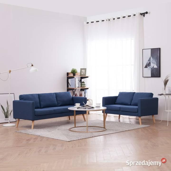 vidaXL Zestaw 2 sof tapicerowanych tkaniną276853