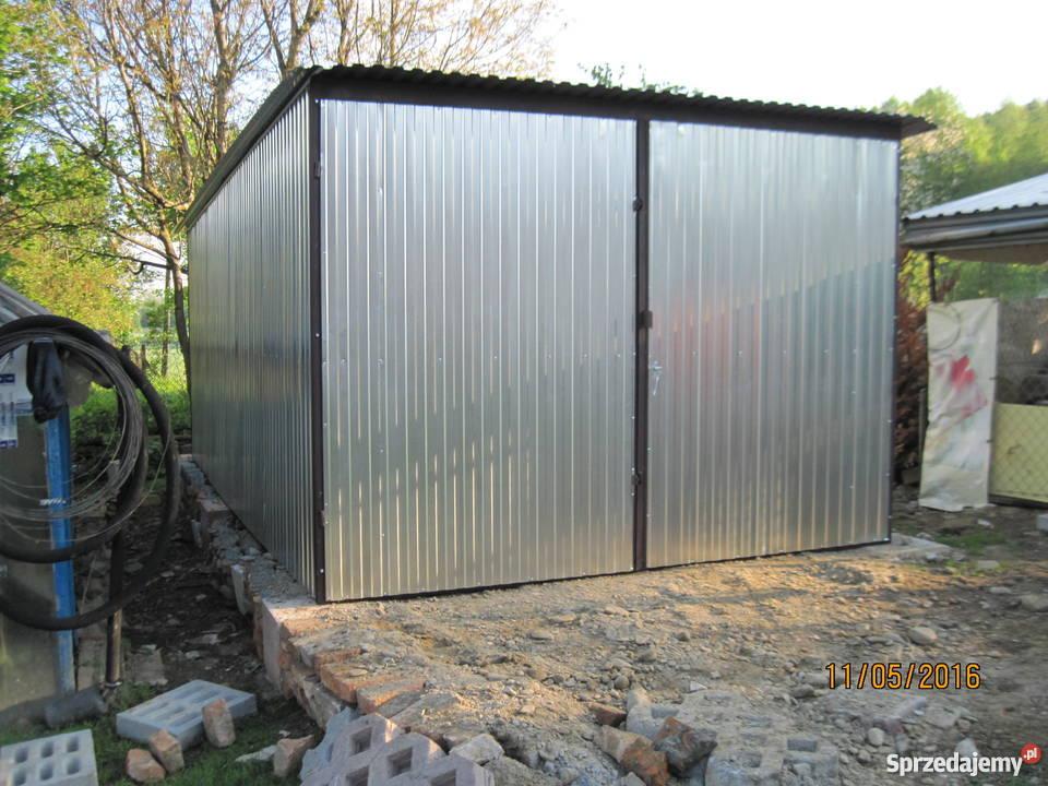 Garaż Blaszany Ze Spadem Do Tyłu 3x5 M Piotrków Trybunalski