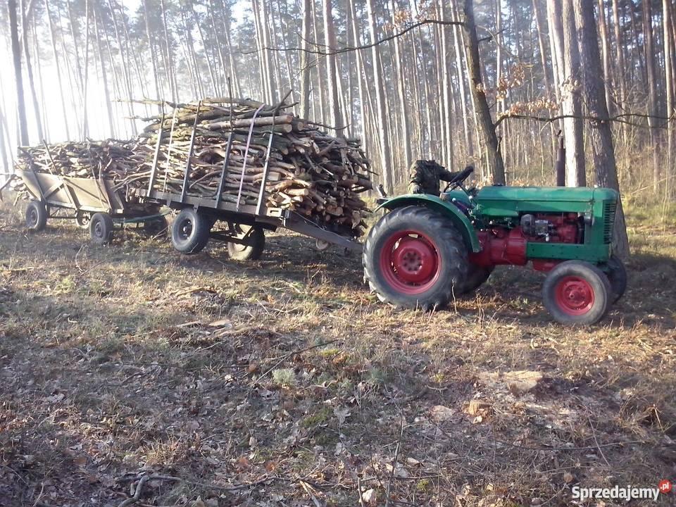 PRZYCZEPA PLATFORMA DO drewna słomy lasu bali; MOCNA