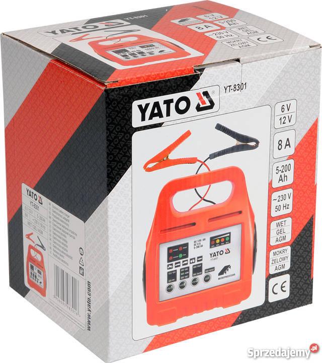 Prostownik elektroniczny 612V 8A 5200Ah YT8301 Brwinów
