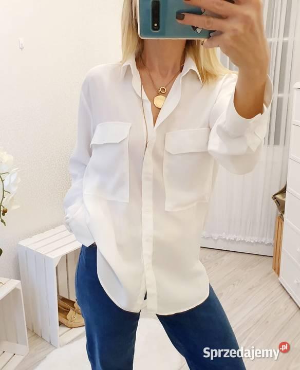 bluzka koszula biała zara