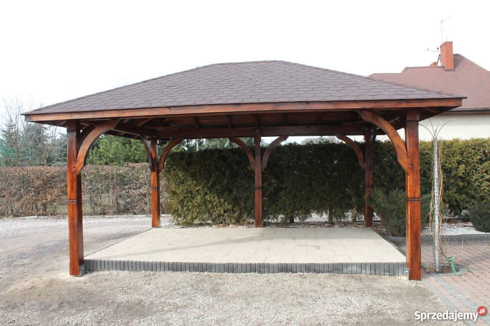 Altana Altanka Pergola Dach Wiata Zadaszenie Domek 49x 37m