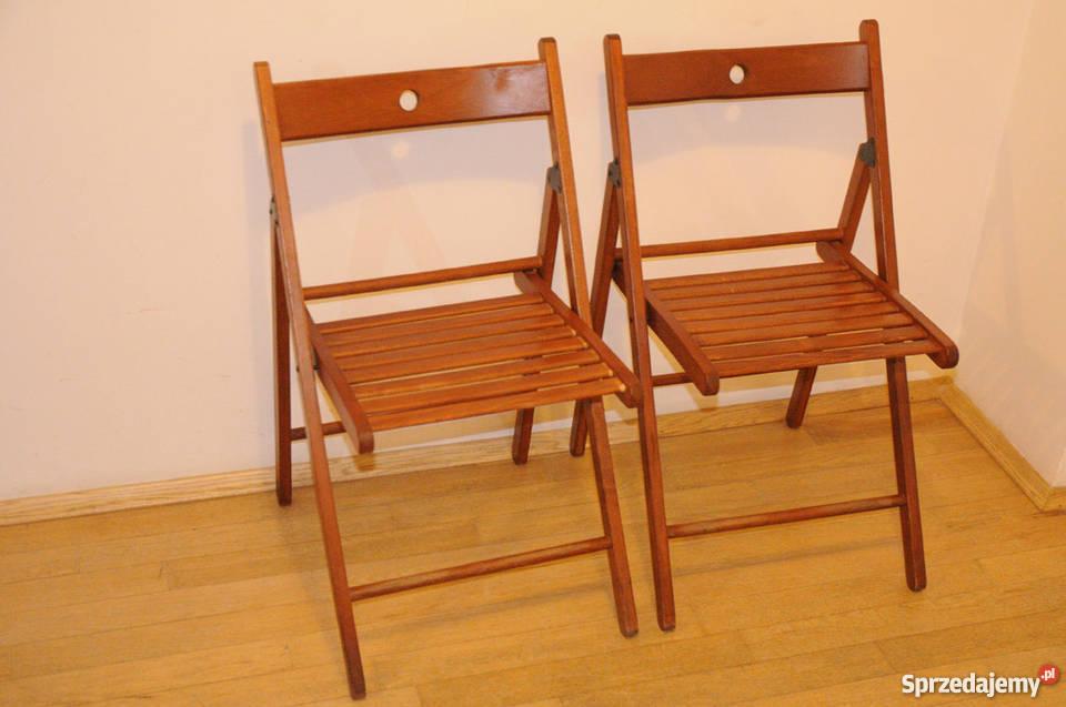 Bardzo dobra 4 składane drewniane krzesła IKEA Kraków - Sprzedajemy.pl DW49
