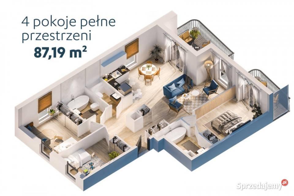 Mieszkanie Warszawa Batalionów Chłopskich 86.96m2