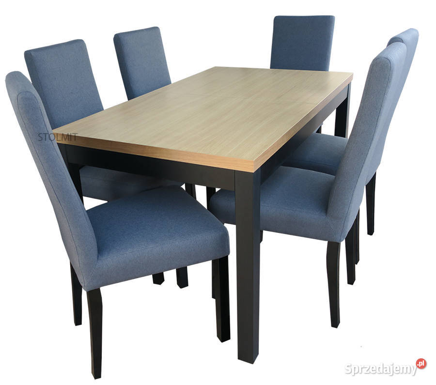 Industrialny stół + 6 krzeseł, nowoczesny zestaw na wymiar