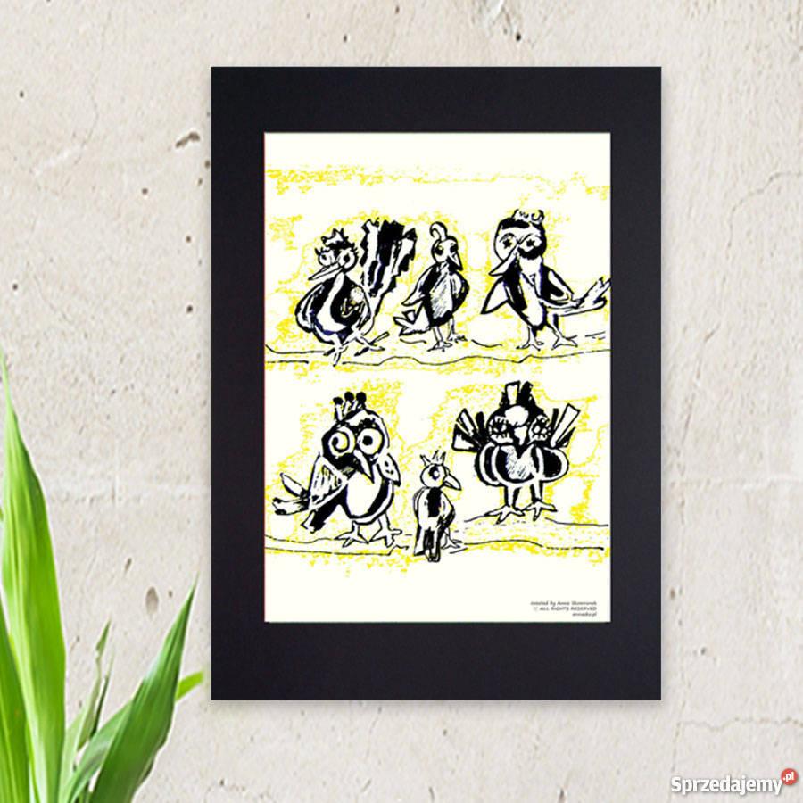 Plakat Do Pokoju Młodzieżowegoplakat Z Ptaszkamidekoracja