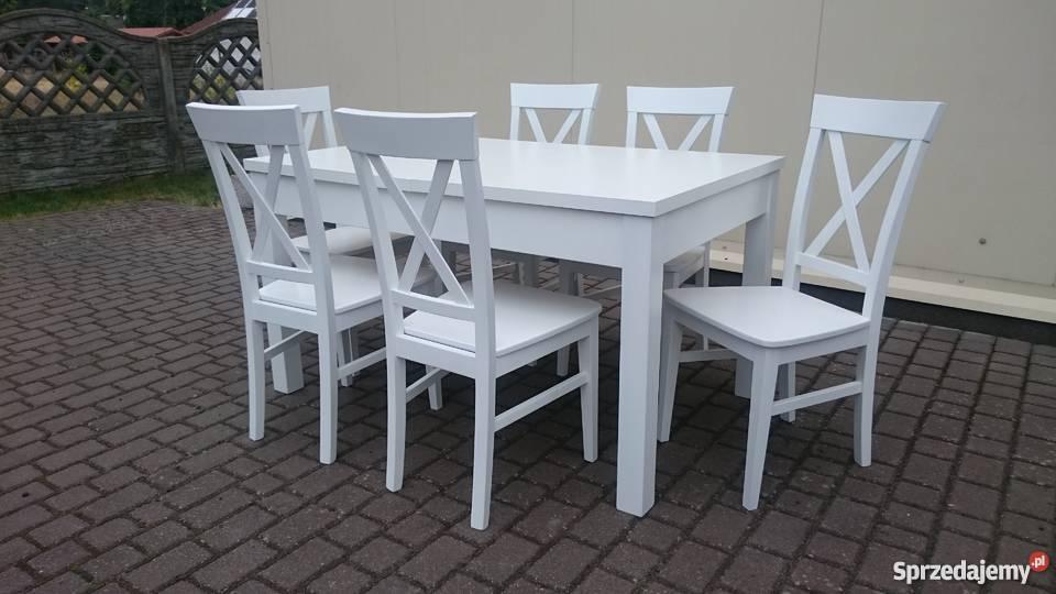 Krzesło białe nowoczesne krzyż krzyżak prowansalskie produce