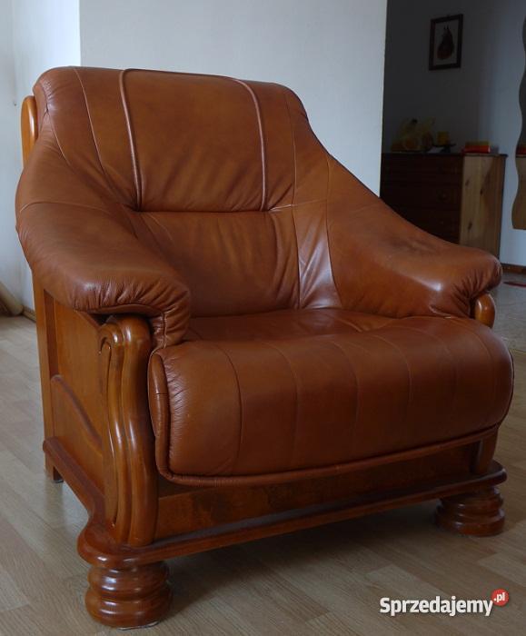 wypoczynkowy 311 SKÓRA fotel sofa KRAKÓW swarzę brązowy/beżowy Kraków sprzedam