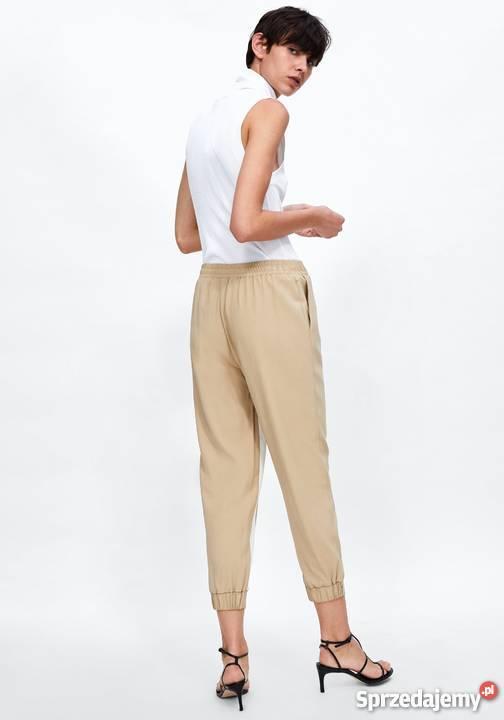 ZARA nowe spodnie damskie joggery z lampasami LXL