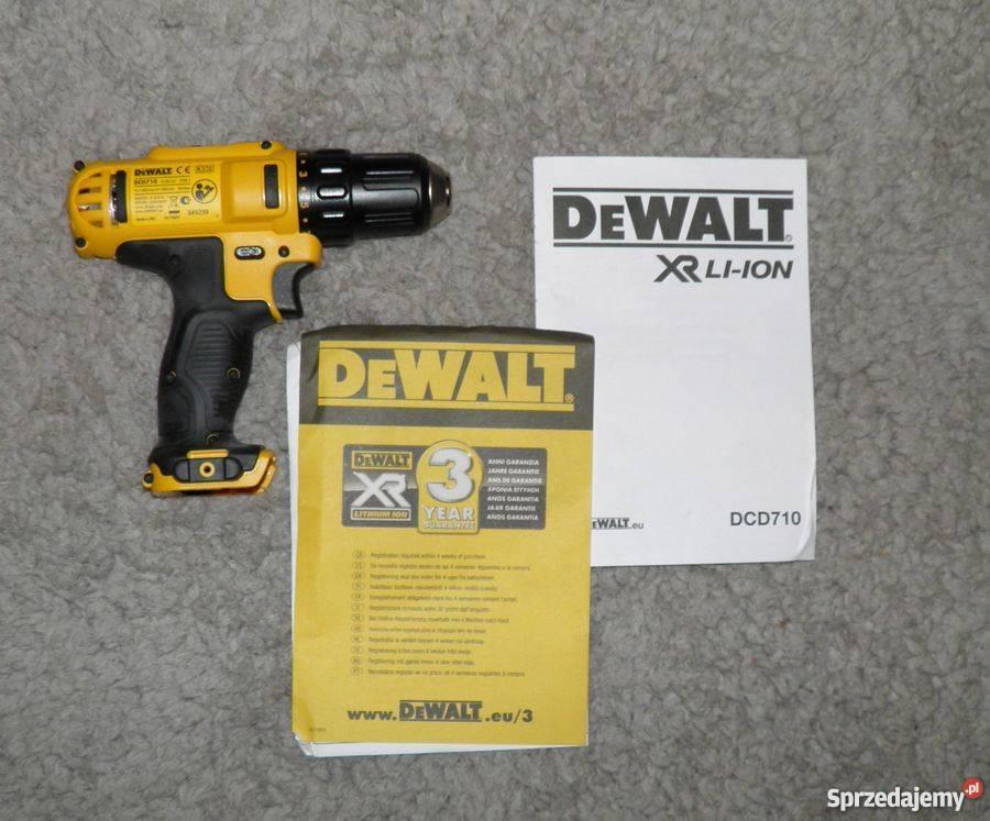 Dewalt DCD710 XR wiertarko-wkretarka 10,8V Li-Ion