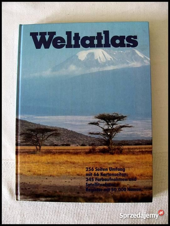 Weltatlas wydanie atlasu niemiecku Mapy i przewodniki mazowieckie Warszawa
