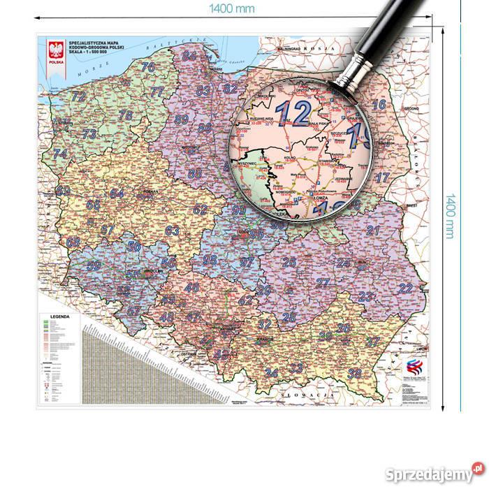 Aktualna Mapa Kodowo Drogowa Polski 1 500 000 Fvat Katowice