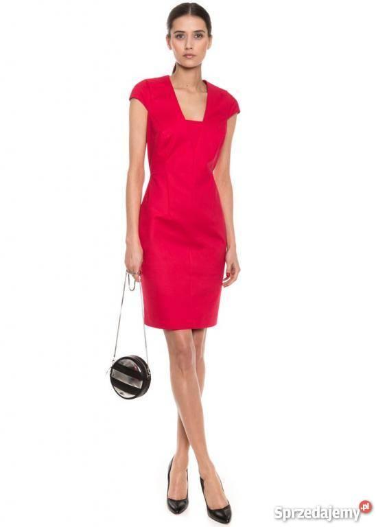 324e78bcf4 Sukienka SIMPLE czerwona 42 jak nowa Biznesowa Gliwice - Sprzedajemy.pl