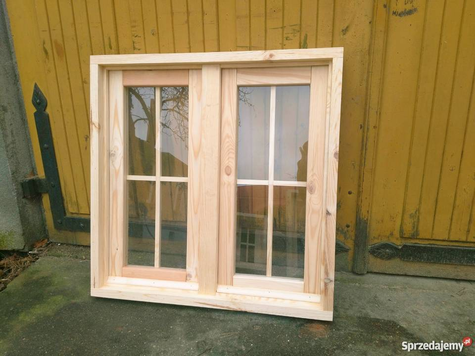 Tylko na zewnątrz Okno, okna drewniane do garażu, altan, komórek, domków ogrod PA53