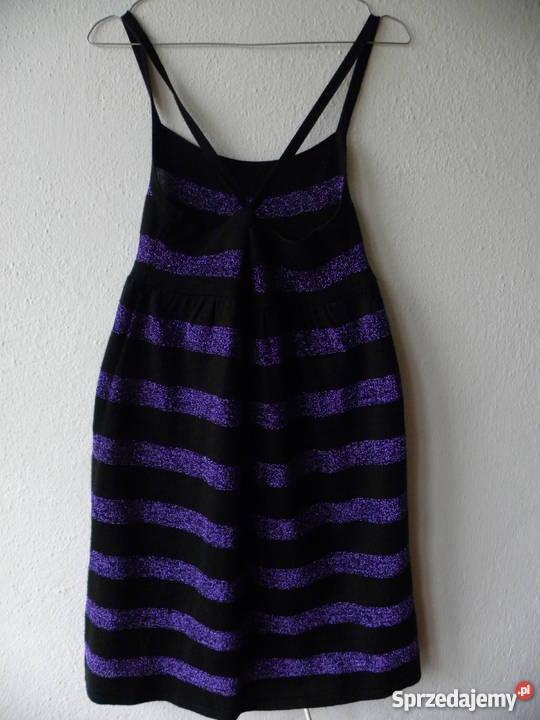 db5f9d1b20 sukienka w brokatowe paski H M S M Warszawa - Sprzedajemy.pl