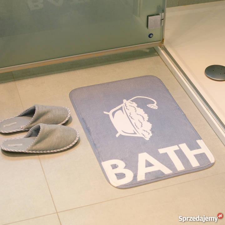 łazienkowy Dywanik Kapielowy Mata Do łazienki Szary Materiał