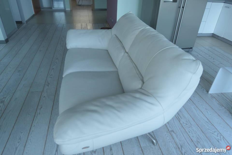 Skórzane sofy markowej włoskiej firmy Italsofa 84cm Świnoujście