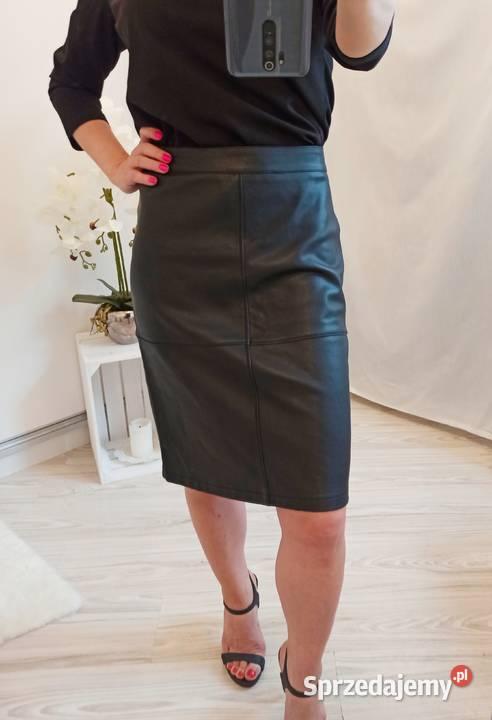 Ołówkowa midi spódnica z imitacji skóry Vila mięciutka S