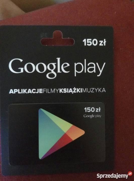 Google Play Karty Podaunkowe 150zl Warszawa Sprzedajemy Pl