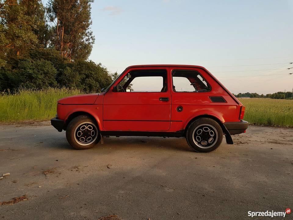 Fiat 126p EL elegant maluch oc przegląd czerwony Bełchatów