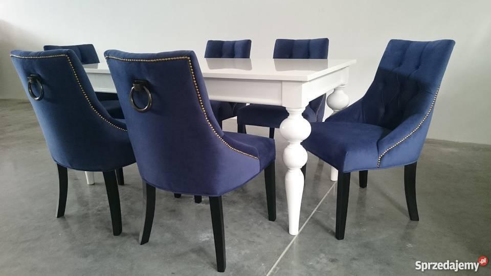 Krzesło tapicerowane pikowane z pinezkami z Warszawa