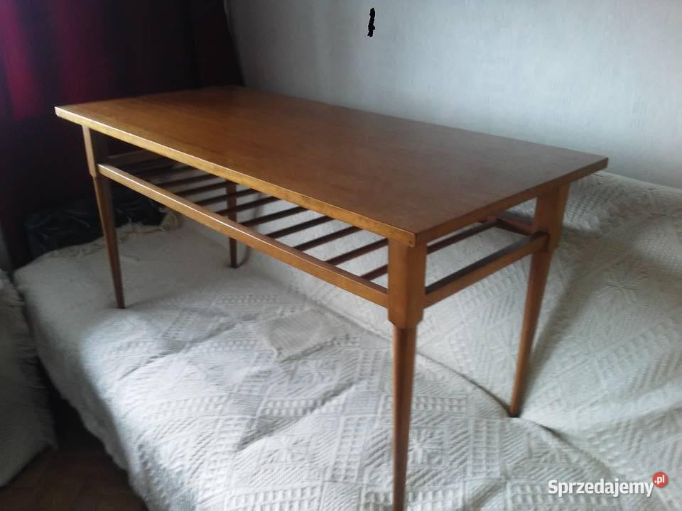 stolik PRL drewniany kawowy