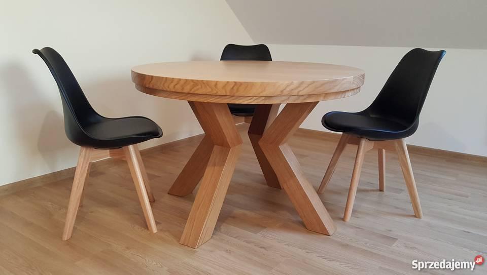 Niewiarygodnie Stół dębowy okrągły PROMOCJA !!! Krosno - Sprzedajemy.pl AG77