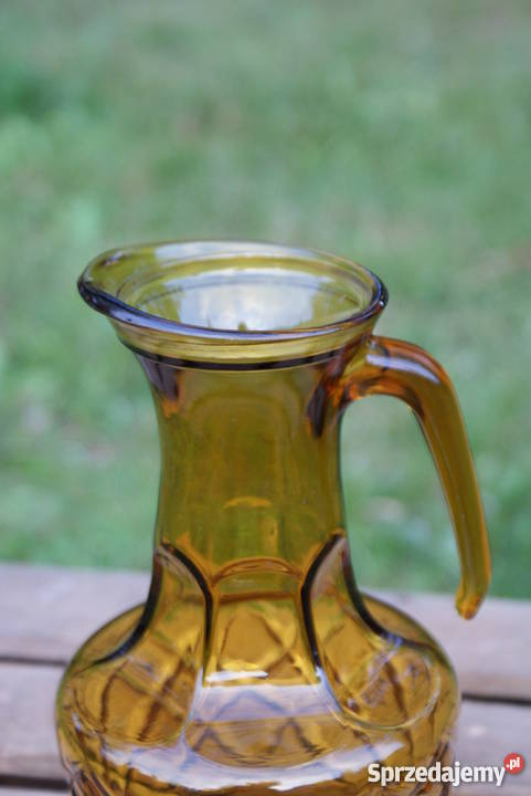 Dzbanek wazon szklany bursztynowy poj 125 l mazowieckie sprzedam