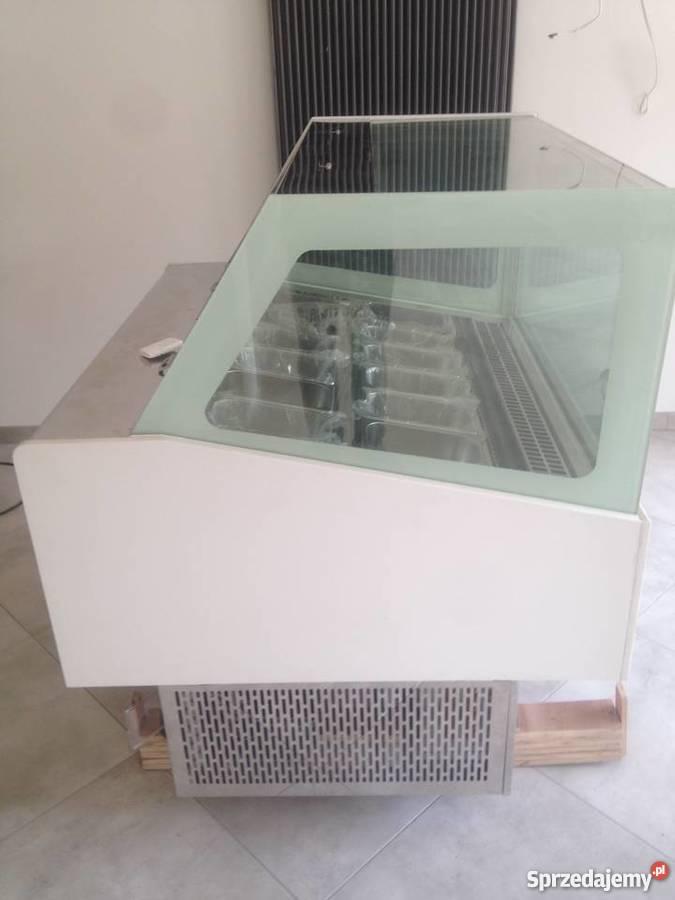 Nowa witryna lodziarka do sprzedaży lodów 12 Zielonka