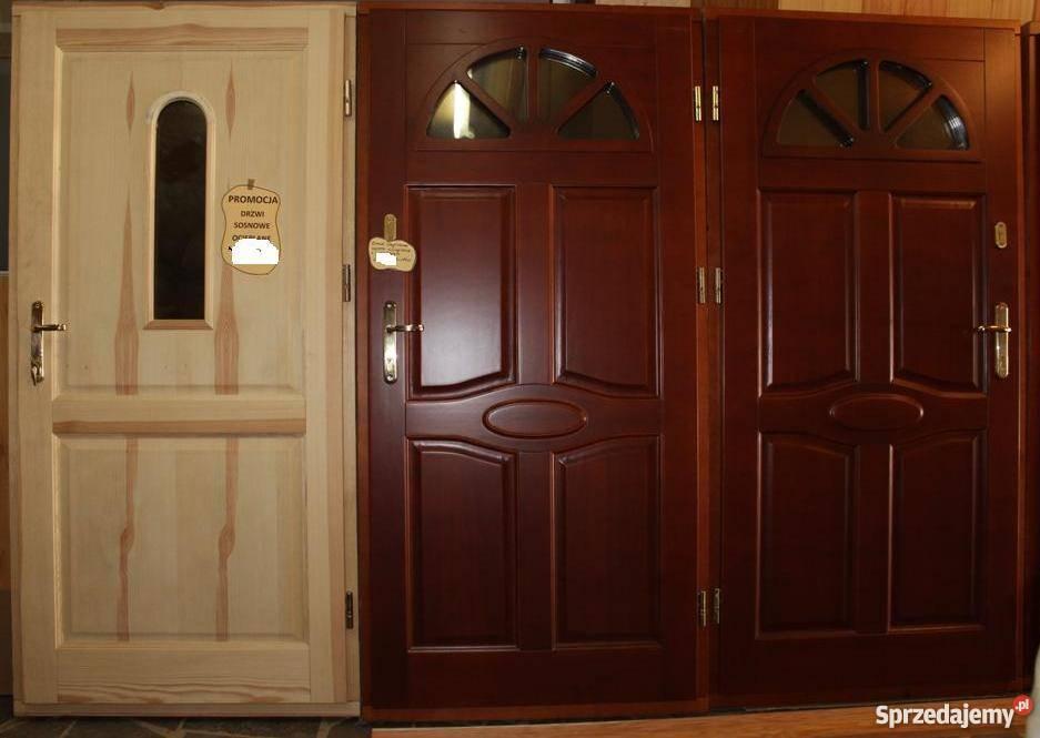 Chłodny drzwi drewniane zewnętrzne wewnętrzne na wymiar Krosno BF62