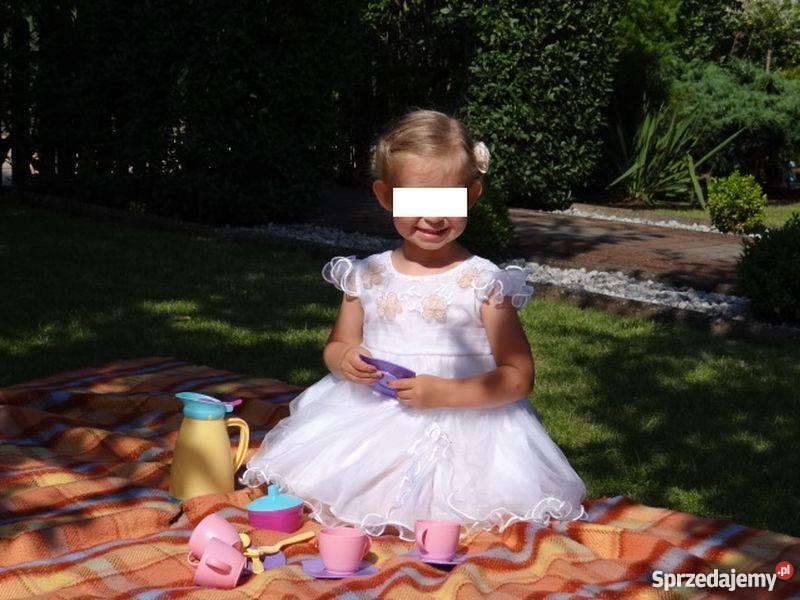 c4d3443445 SUKIENKA biała 104 ślub wesele święta Rozmiar 104 kujawsko-pomorskie  Szczutkowo
