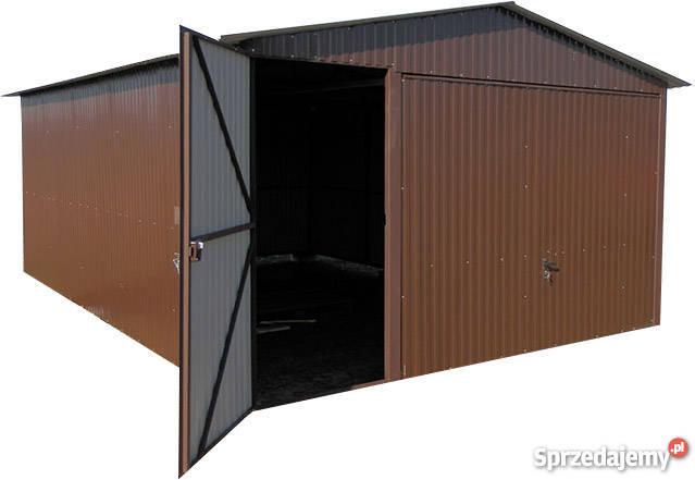 Garaże blaszane 4x6 brąz brama uchylna solidny Radom sprzedam