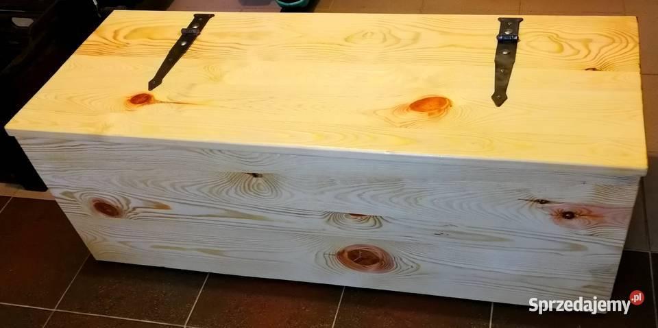 Skrzynia drewniana, siedzisko, kufer, skrzynka.