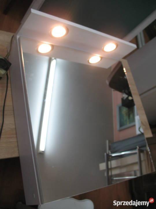 Szafka łazienkowa Z Lustrem I Oświetleniem Led